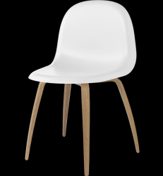 Gubi 5 Chair White/Oak