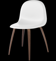 Gubi 5 Chair White/Walnut