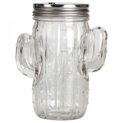 Cactus Lampion Jar | Transparent Glass