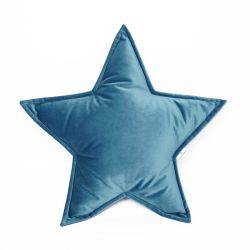 Cushion Big Star Velvet | Marineblue