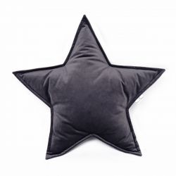 Cushion Big Star Velvet | Graphite Grey