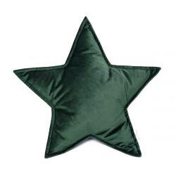 Cushion Big Star Velvet | Green