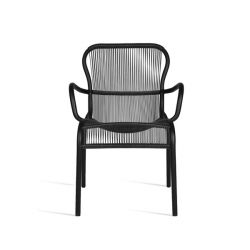 Outdoor Dining Chair Loop | Black