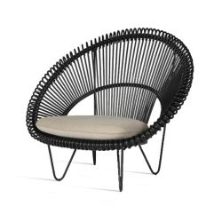 Outdoor Cocoon Chair Roy | Black