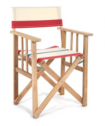 Director Chair Striped | Natural / Red / Blue
