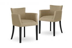 Armchair Santal Set of 2 | Black Legs & Sand