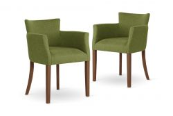 Armchair Santal Set of 2 | Brown & Green