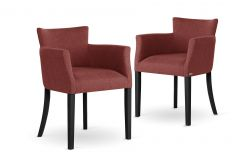 Armchair Santal Set of 2 | Black Legs & Brick Red
