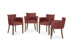 Armchair Santal Set of 4 | Brown & Purple