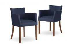 Armchair Santal Set of 2 | Brown & Blue