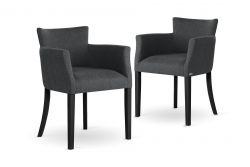 Armchair Santal Set of 2 | Black Legs & Anthracite