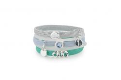 Hair Ties N°5 | Green & Light Blue
