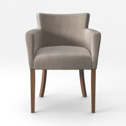 Armchair Santal Velvet Touch | Brown Legs & Beige
