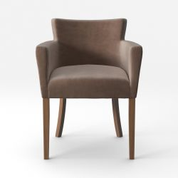 Armchair Santal Velvet Touch | Brown Legs & Taupe