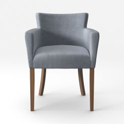 Armchair Santal Velvet Touch | Brown Legs & Grey