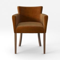 Armchair Santal Velvet Touch | Brown Legs & Mustard