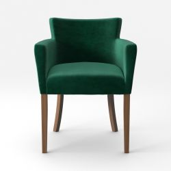 Armchair Santal Velvet Touch | Brown Legs & Green