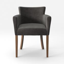 Armchair Santal Velvet Touch | Brown Legs & Anthracite