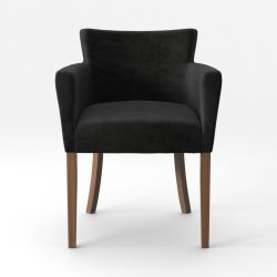 Armchair Santal Velvet Touch | Brown Legs & Black