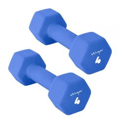 Set of 2 Neoprene Dumbbells 4 kg | Blue