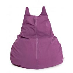 HappyCat Bean Bag Organic Cotton Large | Aubergine
