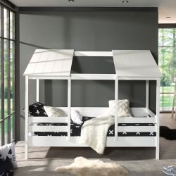 House Bed | White + White Roof | 2 Panels