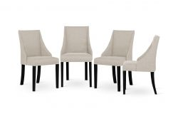 Armchair Absolu | Black Legs | Cream Backrest | Set of 4