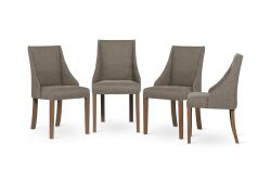 Set of 4 Armchairs Absolu | Brown Legs | Hazelnut Brown Backrest