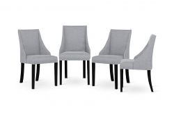 Armchair Absolu | Black Legs | Grey Backrest | Set of 4