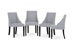 Sessel Absolu | Schwarze Beine | Graue Rückenlehne | 4er-Set