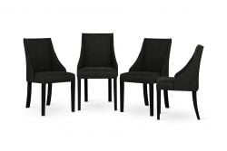 Armchair Absolu | Black Legs | Black Backrest | Set of 4