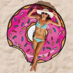 Serviette de Plage | Donut Rose