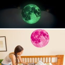 Fluorescent Moon Wall Sticker | Pink