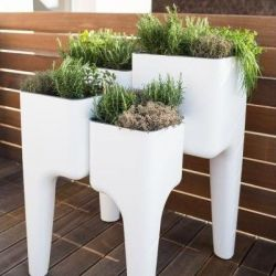 Vegetable Garden Table KIGA | White XL