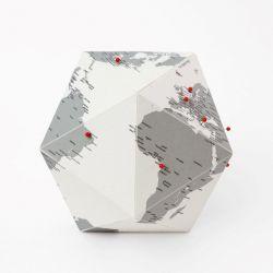 Globe Here Villes | Gris