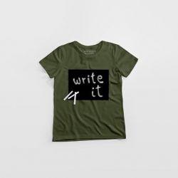 """Cotton Twitter"" Writable T-shirt Women | Khaki"