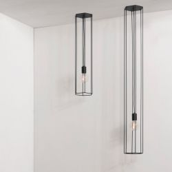 Ceiling Lamp Lines | Hex | Black