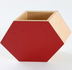 Shadow Hexagonal Vase Red