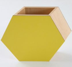 Shadow Hexagonal Vase Yellow