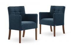 Set de 2 Chaises de Salle à Manger Freesia | Bleu Pétrole