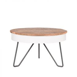 Coffee Table Saria Ø 80 cm | Wood & White