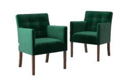 Set de 2 Chaises de Salle à Manger Freesia Velvet | Vert