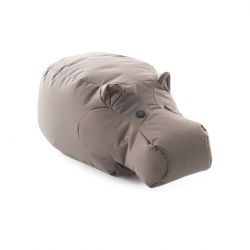 Sitzsack Hippo das Nilpferd | Grau