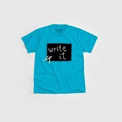 """Cotton Twitter"" Writable T-shirt Men | Turquoise"