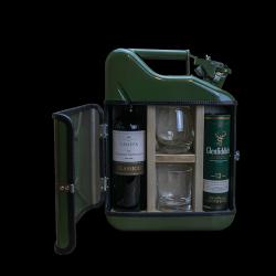Coffret Cadeau Jerrycan Bar Pour Elle et Lui mini 10 L | Vert