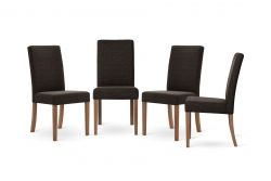Set of 4 Dining Chairs Tonka | Brown