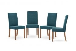 Chair Tonka Set of 4 | Brown & Turquoise