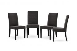 Chair Tonka Set of 4 | Black & Dark Grey