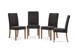 Set of 4 Dining Chairs Tonka | Dark Grey