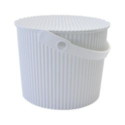 Storage Bucket Omnioutil | White